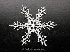 Heklað snjókorn # 2 - íslensk þýðing - Teocalli Snowflake