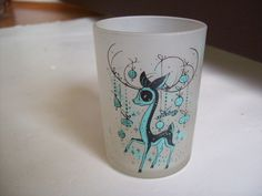 "Gay Fad Studios ""Our Fawn-dest Wish at Christmas"" Frosted Jigger Shot Glass  #GayFadStudios"