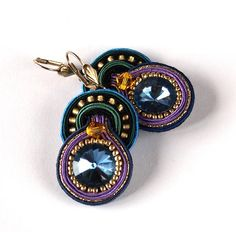 Earrings Turquoise Drop Soutache EarringsHandmade Jewelry