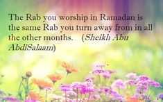 Ramadan is about quitting bad habits, not putting them on pause.