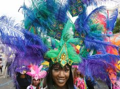Nearly one million people are expected by the organizers Sunday and Monday in the streets of west London's Notting Hill to celebrate Caribbean culture at a carnival considered the largest street demonstration in Europe. (Getty) See more news-related photo galleries and follow us on Yahoo News Photo Tumblr.