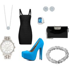 glam night out. created by kristenblackburn on Polyvore.