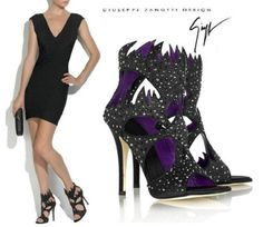 Giuseppe Zanotti Swarovski Cutout Sandals- $1150  Side note- These so remind me of Maleficent from Sleeping Beauty. <3
