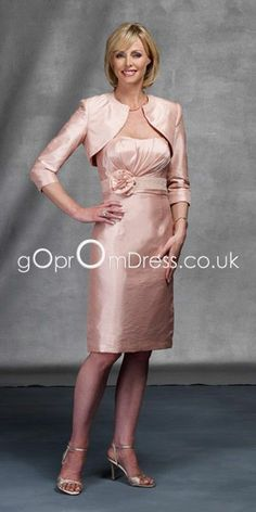 look under summer 2013 mother dresses for dark navy A-line with wrap, or silver? mother of the bride dresses knee length