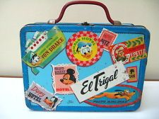 RARE VINTAGE METAL LUNCHBOX TURISM WITH DISNEY CHARACTER