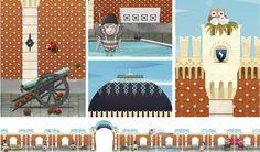 illustration for kids, adobe photoshop, knight's castle, heeresgeschichtliches museum wien