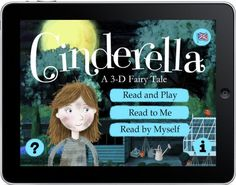 Cinderella is a lovely app from the relatively new Nosy Crow.     There's lots of in-story activities, quirky music and great illustration from Ed Bryan (not sure where he came from but he's destined for great things we think).
