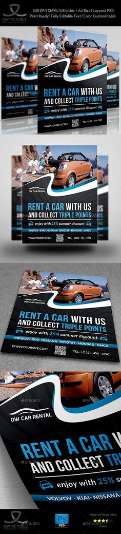 Exclusive Car Rental Flyer Template Flyer Templates $800 - auto detailing flyer template