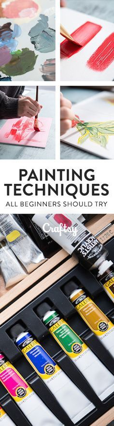 Here's a guide to acrylic painting techniques for beginners that will help you begin your artistic journey. @craftsy