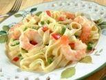 Fetuccini con Camarones y Salsa Blanca