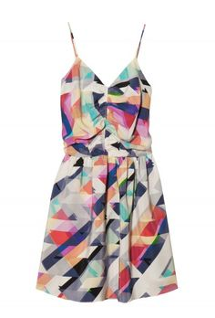 very pretty silk geometric dress