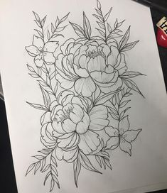 22 Best ideas for drawing tattoo vintage botanical illustration Peony Drawing, Floral Drawing, Tattoo Sketches, Tattoo Drawings, Body Art Tattoos, Botanisches Tattoo, Cover Tattoo, Peony Illustration, Peonies Tattoo