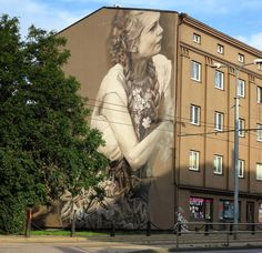Something new from Guido Van Helten in Tallinn Estonia #streetart #streetartnews @guidovanhelten by streetartnews