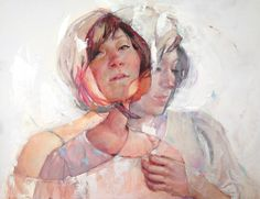 Jane Radstrom  Austin, TX 'If Only / Never Mind' Pastel, Oil and Wax on Board