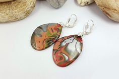 SALE! Earrings «The End of Autumn» - Polymer Clay Earrings - Mom Christmas Present - Wife New Year Gift - Birthday Present Ideas