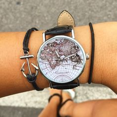 """WOODSTOCK WATCH NEW MAP!  """" I haven't been everywhere, but it's on my list!""""  Take Your Time With Woodstock Watch! ⚓️Shipping available in all European countries! Shop: www.woodstockzambon.com  Instagram:https://www.instagram.com/woodstockzambonvalentina/ #woodstockzambon #dream #travel #woodstockwatch #woodstocktime #summer2016 #style #streetstyle #orologi #watch"""
