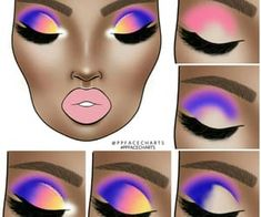 Uploaded by Find images and videos about beauty, art and aesthetic on We Heart It - the app to get lost in what you love. Rainbow Eye Makeup, Colorful Eye Makeup, Makeup Eye Looks, Eye Makeup Steps, Eye Makeup Designs, Makeup Ideas, Make Up Studio, Makeup Face Charts, Makeup Pictorial