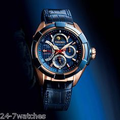 New Seiko SRX010 Premier Kinetic Limited Edition Direct Drive Anniversary Blue