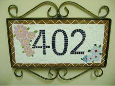 Placa de Número em Mosaico - R$100.00