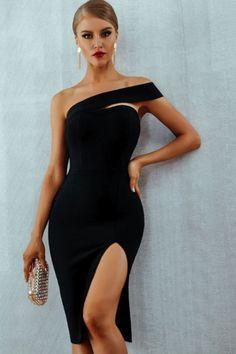 17ec1c83d3c Bodycon One Shoulder Bandage Dress – DOXARY