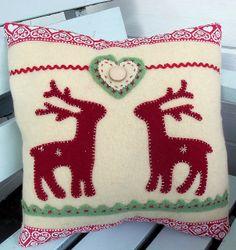 Nordic Reindeer Cushion by Bustle & Sew