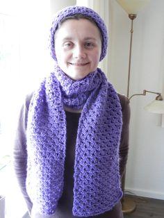 Purple crochet scarf lilac scarf crochet scarf wool door EraOfCrea