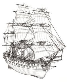 The All Inclusive Luxury Motor Yacht Charter Model Sailing Ships, Old Sailing Ships, Model Ships, Boat Drawing, Pirate Ship Drawing, Bateau Pirate, Model Ship Building, Ship Of The Line, Ship Paintings
