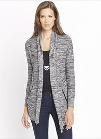 Open Cardigan With Faux Leather Pockets On sale for $30