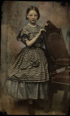 Tintype of a young girl (1860s)
