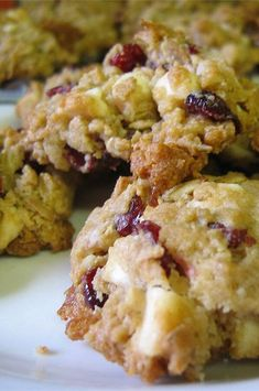 """Chocolate-Cran-Oat Cookies 