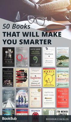 52 Books that Will Make You Smarter These thought-provoking books from authors s. - 52 Books that Will Make You Smarter These thought-provoking books from authors such as Malcolm Glad - Book Challenge, Reading Challenge, Book Suggestions, Book Recommendations, Best Books To Read, Good Books To Read, Best Books To Gift, Books To Read In Your Teens, Best Non Fiction Books
