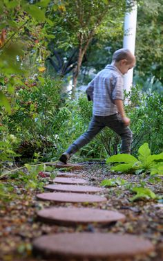 Tip #6: Include places to run and explore.  My kids love to count the stone steps as jump to each one.