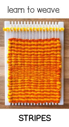 This is perfect for beginner weavers, learn how to weave stripes with neat edges, we all want that! Tapestry Weaving, Loom Weaving, Hand Weaving, Yarn Crafts, Fabric Crafts, Weaving For Kids, Etsy Embroidery, Weaving Projects, Art Projects