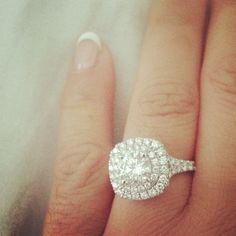 Check out this gorgeous double halo engagement ring!