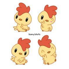 Little Rooster by Daieny.deviantart.com on @DeviantArt Kawaii Doodles, Cute Doodles, Kawaii Art, Cartoon Drawings, Easy Drawings, Cartoon Art, Chicken Drawing, Chicken Art, Cute Chickens