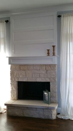 though | Home decor | Pinterest | Stone fireplaces