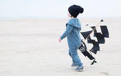 Gray Label Boy in a Hooded Jumpsuit Denim