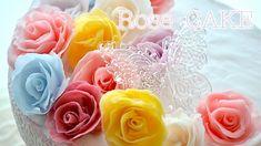 Handmade Rose Cake looks like Fondant バラの作り方 スイーツデコ