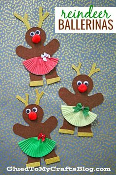 Gingerbread Reindeer Ballerina Friends Christmas Kid Craft is part of Cute Kids Crafts Christmas Instead of giving our gingerbread men shapes the same ole& boring look this holiday season, while - Preschool Christmas Crafts, Cute Kids Crafts, Kindergarten Crafts, Winter Crafts For Kids, Holiday Crafts, Craft Kids, Christmas Tree With Gifts, Christmas Projects, Kids Christmas