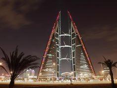Das Bahrain World Trade Center hat eine integrierte Windenergieanlage.