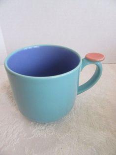Lindt-Stymeist Colorways Thumbprint Mug Turquoise Blue Salmon  #LindtStymeist