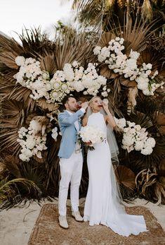 Epic Tulum wedding for Kiona and Matt! Destination Wedding Decor, Destination Wedding Photographer, Wedding Photography Poses, Wedding Photography Inspiration, Bella Wedding, Dream Wedding, Oklahoma Wedding, Wedding Hair Inspiration, Floral Wedding