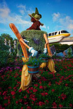 Walt Disney World Epcot Spring Garden Festival at EPCOT. Landscaping art at Walt Disney World.