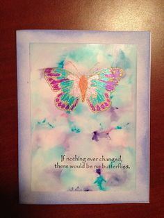 Marbled, Twinkling H2O butterfly card