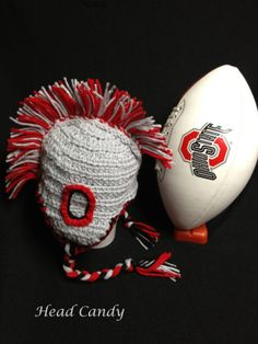 OSU college football Buckeye hat with a mohawk and by headcandy1, $30.00
