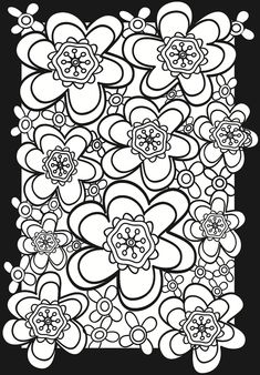 Flower Power Stained Glass Coloring Book Dover Publications
