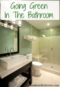 5 Small Bathroom Remodeling Projects That Work! Hall Bathroom, Bathroom Renos, Master Bathroom, Bathroom Remodeling, Bathroom Ideas, Mint Bathroom, Serene Bathroom, Master Shower, Basement Bathroom