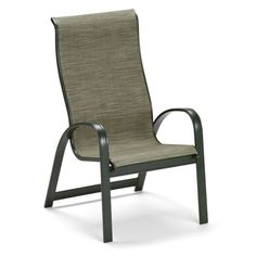 Outdoor Telescope Casual Primera Sling Supreme Stackable Aluminum Dining Patio Chair - 900