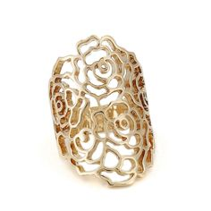 2014 New Hot Sale Fashion Hollow Flower Dome Rings For Women