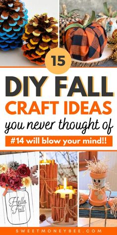 DIY Fall Crafts For Kids and Adults, Halloween Decorations and Fall Ideas